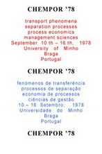 CHEMPOR'78: International Chemical Engineering Conference, University of Minho, Braga, Portugal, September 10-16, 1978 - Proceedings